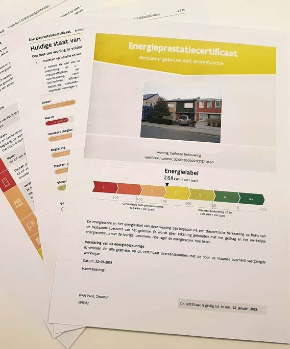 Woningschatter EPC-certificaat